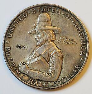 1921 Pilgrim Commemorative Half Dollar .50c in AU/BU Condition