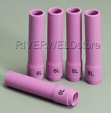 796F77 6L# Long Alumina cups Nozzles Fit DB WP SR 9- 20 25 TIG welding Torch 5PK