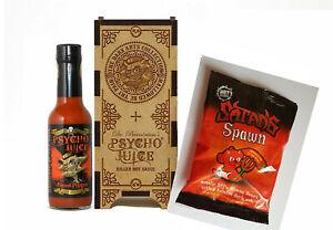 Psycho Juice Dark Arts Gift Set 70% Naga Pepper Sauce & Satan's Spawn Gummy Bear
