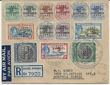 Bahamas 1942 Landfall. 13 values to 3/- on cover to Montreal. 5 May 1943