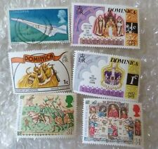 Stamp- A collection GB Stamps Domesday Book, Dominica - lot of 5 (Used & Unused)
