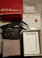 LEICA M4P Canada, black, completa di tracolla originale, istruzioni, scatola