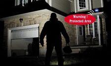 Motion Sensor Detector w/ Light & Voice Alarm for Backyard Guard & Home Security
