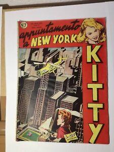 KITTY lire 20 APPUNTAMENTO A NEW YORK ediz. Oriani 1949 fumetto n° 7