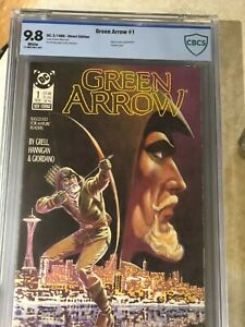 Green Arrow #1 - DC Comics 1988 Direct Edition - Painted Cover - CBCS 9.8 Graded