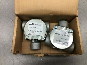 NEW IN BOX OF 2 CROUSE HINDS 3/4 125 # MAX BALL TYPE FLEXIBLE FIXTURE HANGER ALC