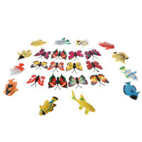 24X Plastic Animal   Butterfly Model Action Figures Kids Educational Toys
