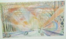 The Queensboro Bridge Modernist Work-1943-August Mosca-Shown at ACA Show