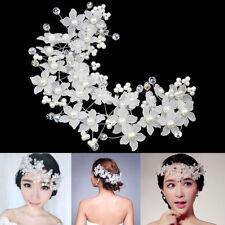 ND_ LC_ Fashion Women Faux Pearl Flower Headwear Bridal Party Hair Accessories
