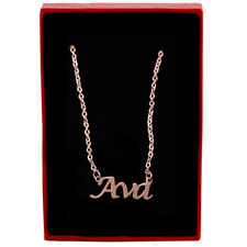 Ava - Rose Gold Name Necklace - Personalized Jewellery - Bridesmaid Christmas