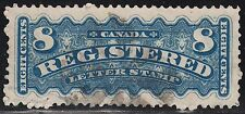Canada 8c Registered Mail, Scott F3a, VF used, catalogue - $500