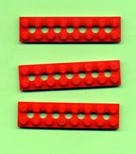 Technik Schwarz 2 x 8 3 Stück 7 Loch Lego--3738 --- Lochplatte