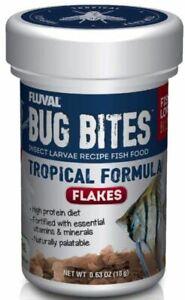 Fluval Bug Bites Insect Larvae Tropical Fish Flake