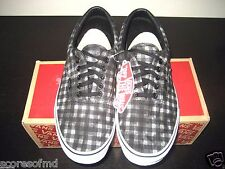 Vans Era 59 Mens Distressed Plaid Black Skate Boat shoes size 11 VN-0ZMSFE3 NWT