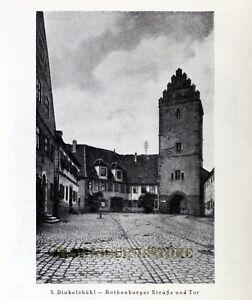 German Dinkelsbühl © 1921 Reprint vintage Picture
