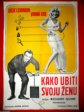 HOW TO MURDER YOUR WIFE 1965 SEXY VIRNA LISI JACK LEMMON  EXYU MOVIE POSTER
