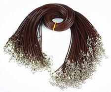 By71810 Wholesale 10pcs Beautiful unique brown pendant leather cord 15.5 inch