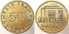 50 FRANKEN 1954 SAARLAND #2571