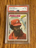 1977 Topps #520 Garry Maddox Philadelphia Phillies - PSA 8 NM-MT