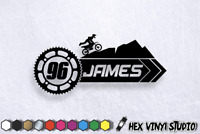 Custom Race Numbers Name Text MX Motocross Quad Car Van Motorcycle Stickers