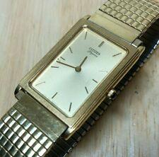 Vintage Citizen Elegance 4621 Men Ultra Thin Analog Quartz Watch Hour~New Batter