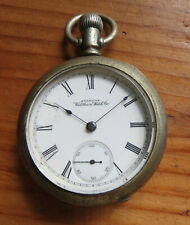 Not Running - As Is Antique American Waltham Pocket Watch -
