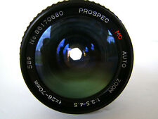 Prospec 28-70mm Zoom lens Pentax K Mount Manual Focus