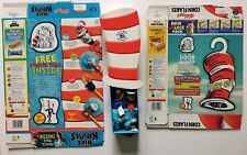 More details for 2004 kelloggs cereal cornflakes cat in the hat packets & finger puppet box set