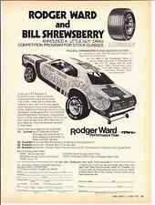 1973 PLYMOUTH DUSTER / BILL SHREWSBERRY ~ ORIGINAL ROGER WARD TIRE AD