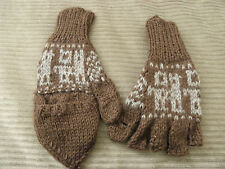 From Peru Flip Top Mittens with Alpaca Llama Design Woman XL, Men L #121413