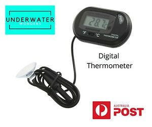 Digital Thermometer Lcd For Aquarium Fish Shrimp Goldfish Tank Terrarium AU