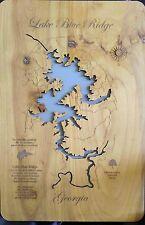Wooden 2D Cut, Engraved LAKE BLUE RIDGE, GA  WALL ART IMPERFECT