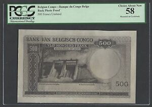 Belgian Congo Back 500 Francs Undated Photo Proof About Uncirculated