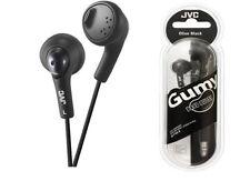 Genuine JVC HA-FX5 Gumy In-Ear Stereo Earphones Gummy Headphones in Black