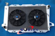 For Ford F100 F150 F250 F350 Bronco V8 AT 1983-1997 MT Aluminum Radiator & Fans