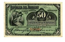 Paraguay ... P-137 ... 50 Centavos ... 1916 ... *Ch XF+*
