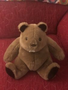 "Vintage 1985 Gund Eager the Beaver 10"" Plush Stuffed Animal"
