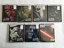 STAR WARS: Episodes 1-6 & The Force Awakens Blu-Ray Steelbook Collection!!!!!