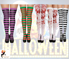HOLD UP STOCKINGS TIGHTS White Blood Stained Zombie Stripey Bloody HALLOWEEN Lot