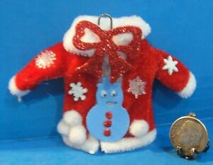"""Dollhouse Christmas """"Ugly Sweater"""" with decorations  #2"""