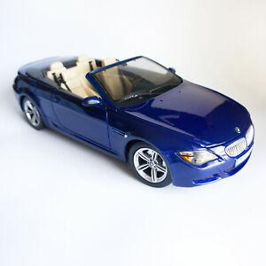 BMW M6 Cabriolet MAISTO 1/18 Blue Special Edition Collectible Car Motor