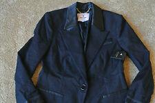 JUICY COUTURE  Sexy Black Tuxedo Style Blazer Jacket 2 NWT$275 Gold Logo Buttons