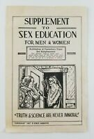 Sex Education 1937 Grim Reaper Paper Fold Out (Great Graphics/Pictures)