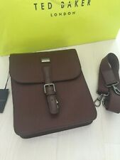 Ted Baker Men's Brown Leather Man Bag Flight Bag RRP £189 Men's Gift Brand New
