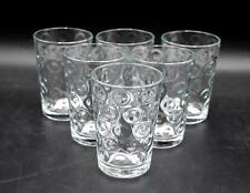 Set of 6 Clear Juice Glasses - Coin Spot Pattern