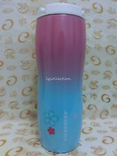 New Starbucks Pink Blue Sakura Cherry Stainless Steel Tumbler  16oz Hong Kong