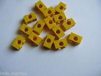 Lego 15 yellow technic brick 1 x 2 / 15 briques techniques jaunes 1 x 2