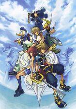 POSTER KINGDOM HEARTS 2 3 ROXAS SORA RIKU KAIRI KEYBLADE PSP #9