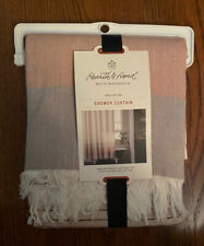 New listing Magnolia Hearth & And Hand Copper Ombre Colorblock Shower Curtain Cotton Pink