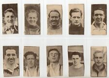 'FOOTBALLERS  'ISSUED BY CLIFFORD IN 1950.    PART SET OF 21 CARDS.   CUT DOWN